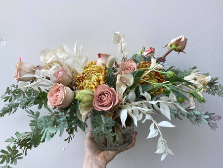 Bouquet with muted colors
