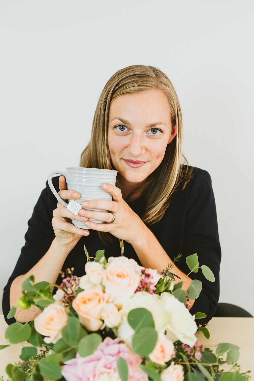 Florist Drinking Tea