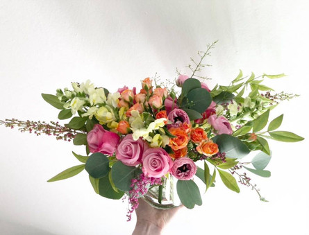Bright and colorful arrangement