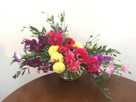 Cheerful A-Symmetrical Floral Design