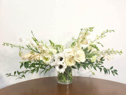 White, ivory, and green arrangement
