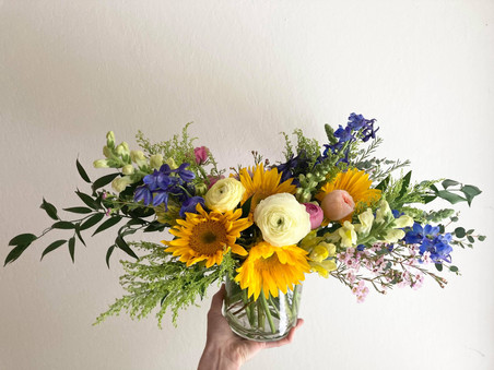Happy sunflower arrangement