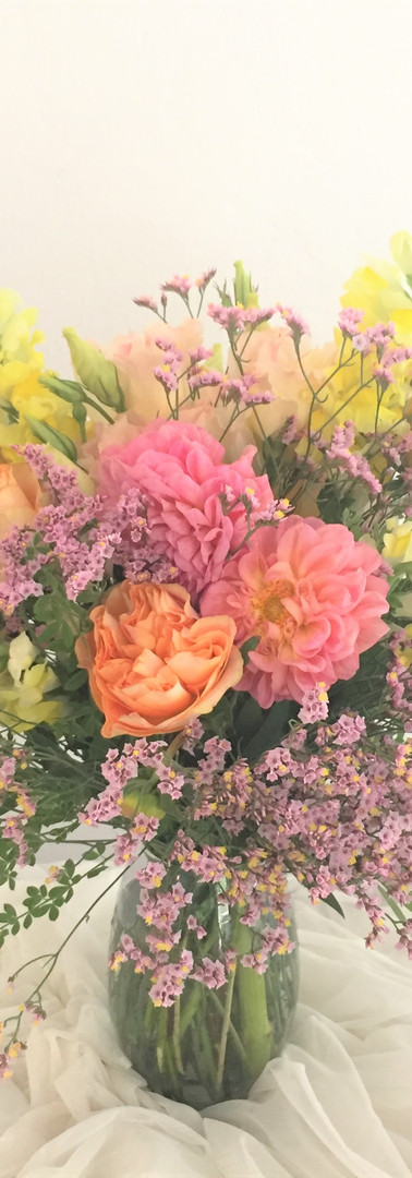 Happy, soft arrangement