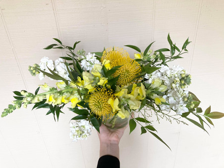 Bright yellow and white flowers