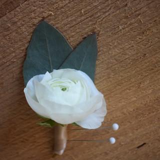 White Boutonniere
