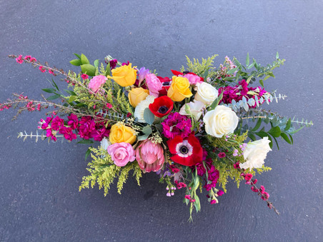 Large, bold arrangement for a birthday
