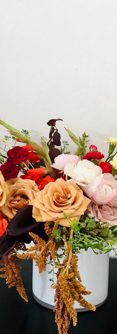 Moody, fall flower arrangement