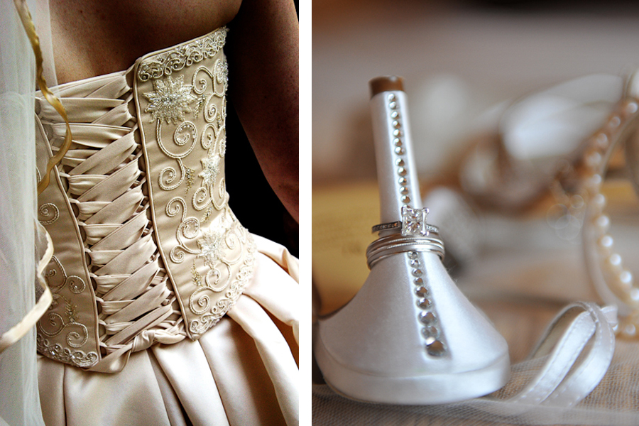 Wedding dress, Wedding Ring.