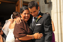 Wedding Photos of Groom with Mom.