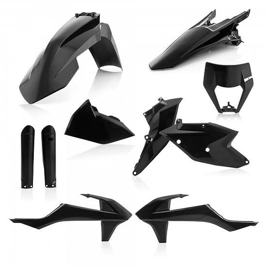 ACERBIS PLASTIC KIT KTM EXC EXCF 17-19 BLACK
