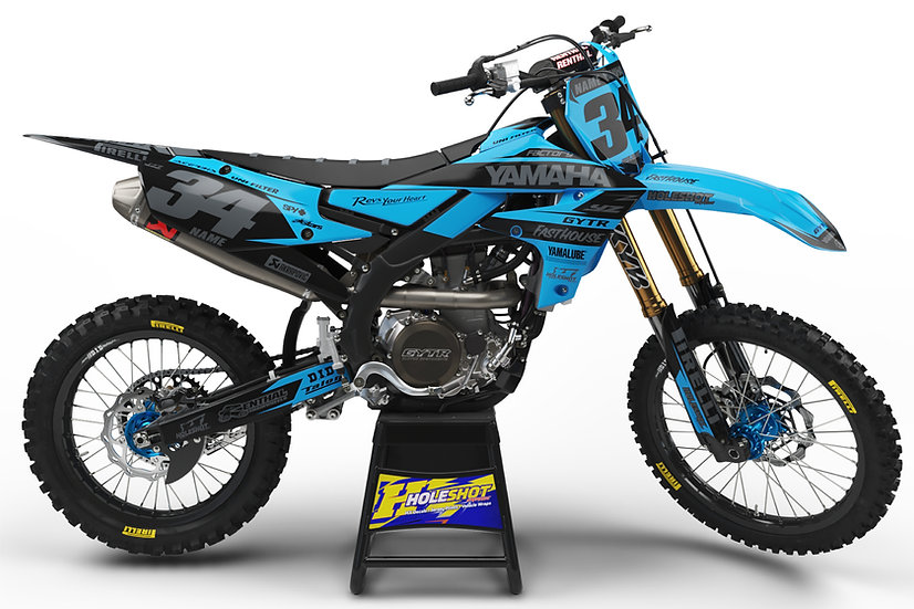 "YAMAHA ""SPECTRUM"" LIGHT BLUE/BLACK KIT: $179.95 - $279.95"