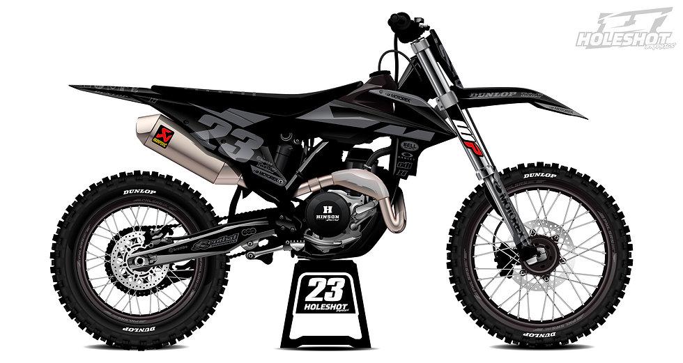 "KTM ""FACTORY BLACK/GREY"" KIT: $179.95 - $279.95"