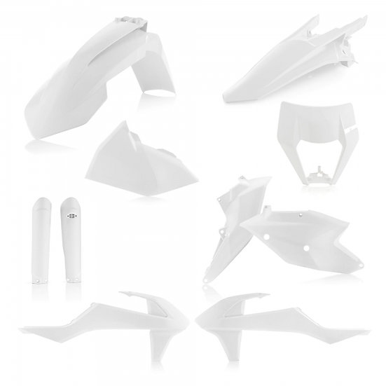 ACERBIS PLASTIC KIT KTM EXC EXCF 17-19 WHITE