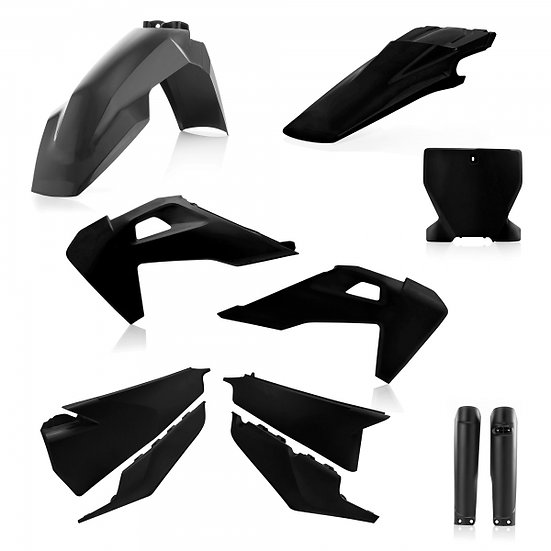 ACERBIS PLASTIC KIT HUSQVARNA TC FC 19-20 BLACK