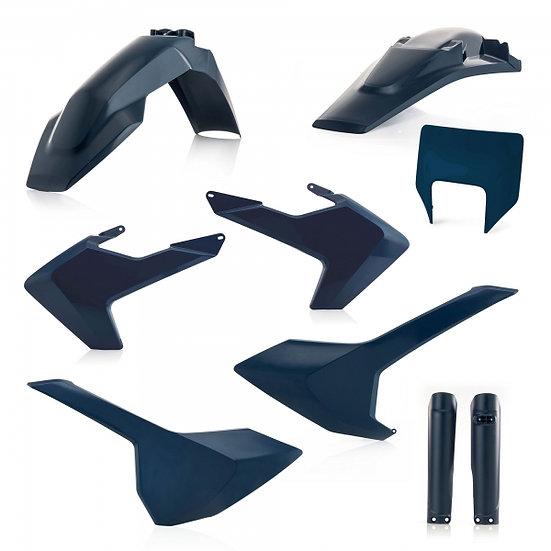 ACERBIS PLASTIC KIT HUSQVARNA TE FE 17-19 BLUE