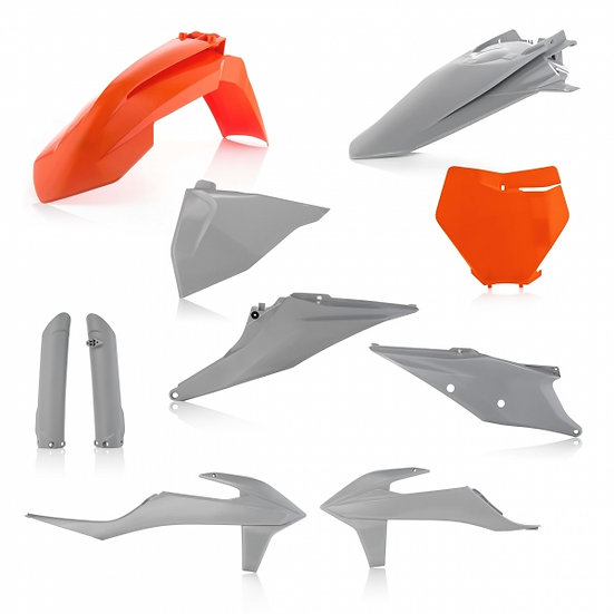 ACERBIS PLASTIC KIT KTM SX SXF 19-20 GREY HAWK FACTORY