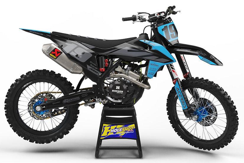 "KTM ""EFFEX"" BLUE/GREY/BLACK KIT: $179.95 - $279.95"