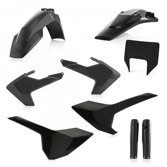 ACERBIS PLASTIC KIT HUSQVARNA TE FE 17-19 BLACK