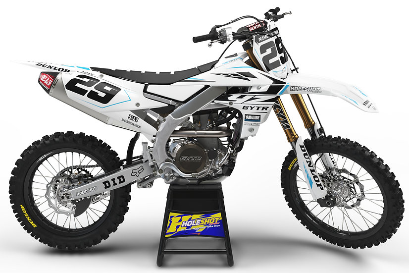 "YAMAHA ""FACTORY"" WHITE/BLACK/BLUE KIT: $179.95 - $279.95"