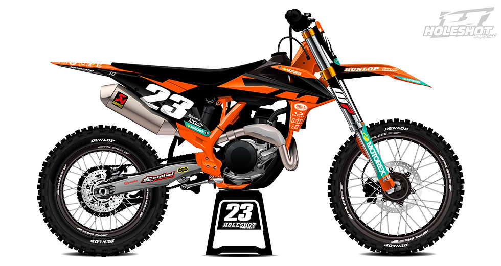 "KTM ""FACTORY ORANGE/BLACK"" KIT: $179.95 - $279.95"