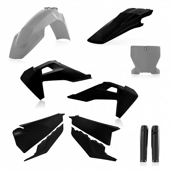ACERBIS PLASTIC KIT HUSQVARNA TC FC 19-20 GREY BLACK