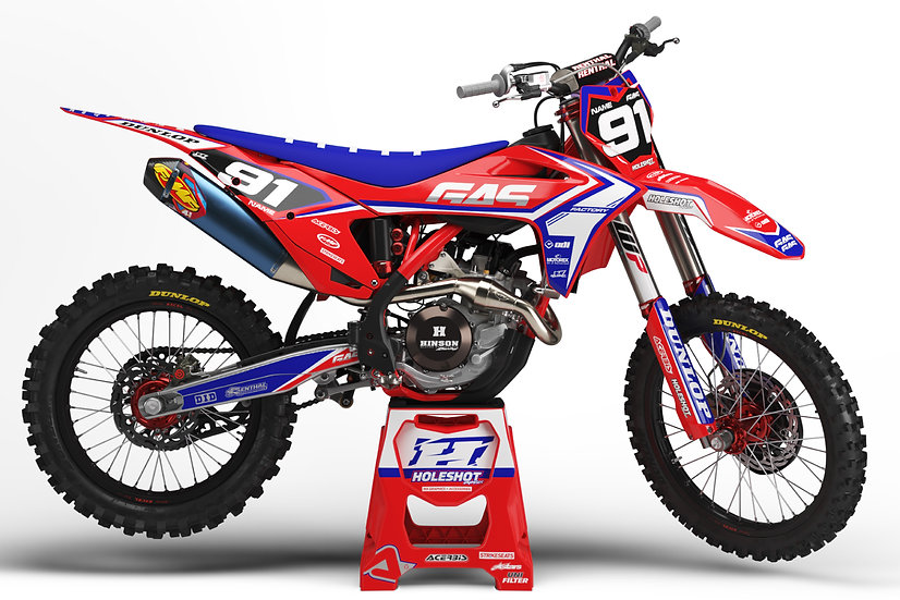 "GAS GAS ""FACTION"" RED - BLUE KIT: $179.95 - $279.95"