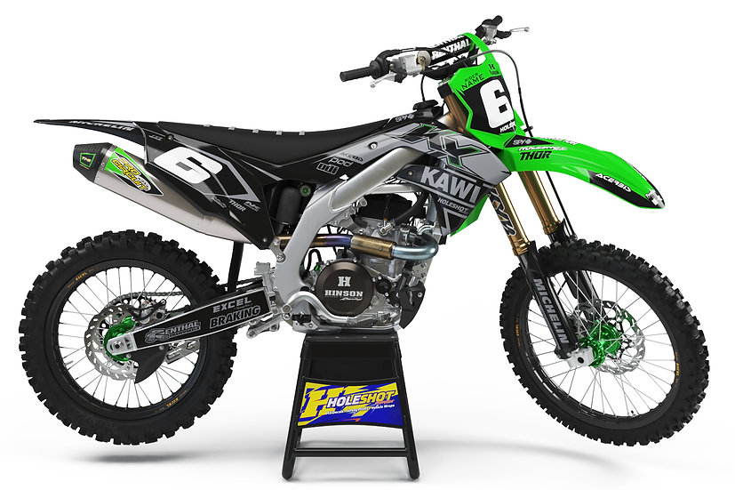 "KAWASAKI ""CRANKED"" GREEN/BLACK/GREY KIT: $179.95 - $279.95"
