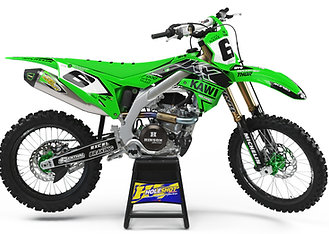 "KAWASAKI ""CRANKED"" GREEN/BLACK KIT: $179.95 - $279.95"