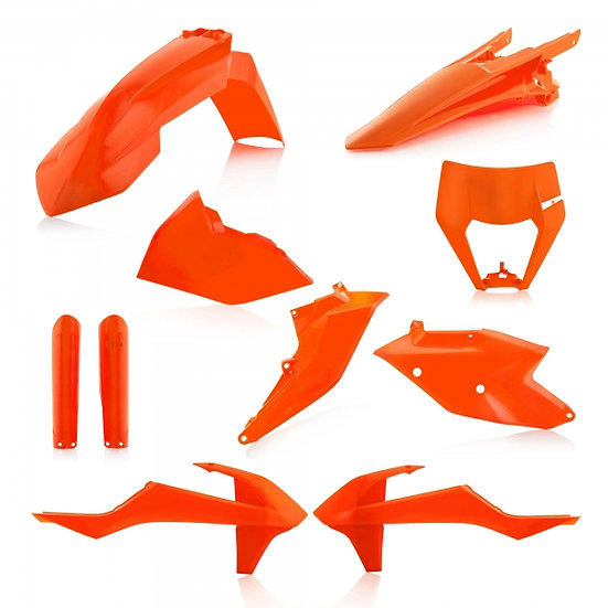 ACERBIS PLASTIC KIT KTM EXC EXCF 17-19 ORANGE
