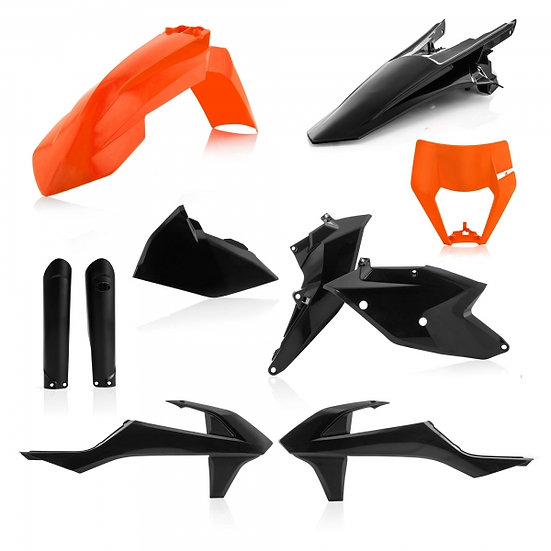 ACERBIS PLASTIC KIT KTM EXC EXCF 17-19 ORANGE BLACK