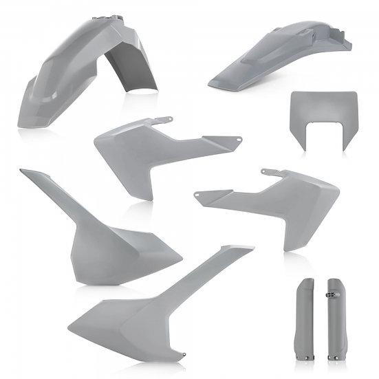 ACERBIS PLASTIC KIT HUSQVARNA TE FE 17-19 GREY