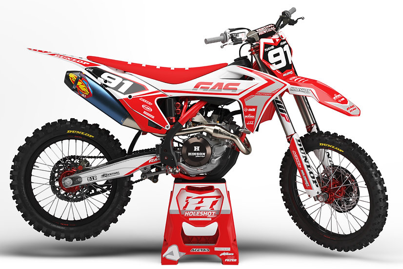 "GAS GAS ""FACTION"" RED - WHITE KIT: $179.95 - $279.95"