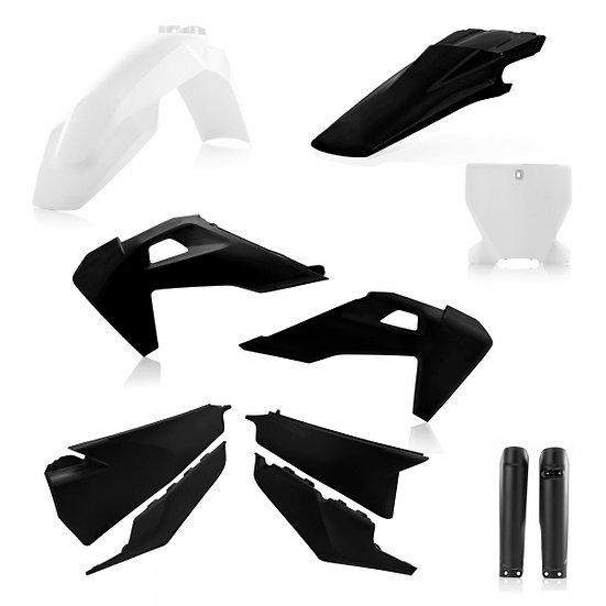 ACERBIS PLASTIC KIT HUSQVARNA TC FC 19-20 BLACK WHITE
