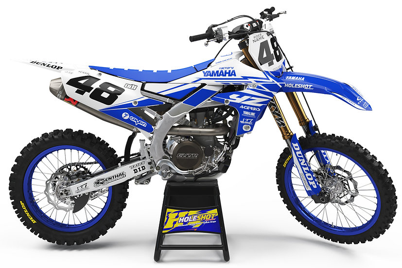 "YAMAHA ""SLICE"" BLUE/WHITE KIT: $179.95 - $279.95"