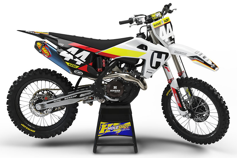 "HUSQVARNA ""SLICE"" WHITE/BLACK/YELLOW/RED KIT: $179.95 - $279.95"