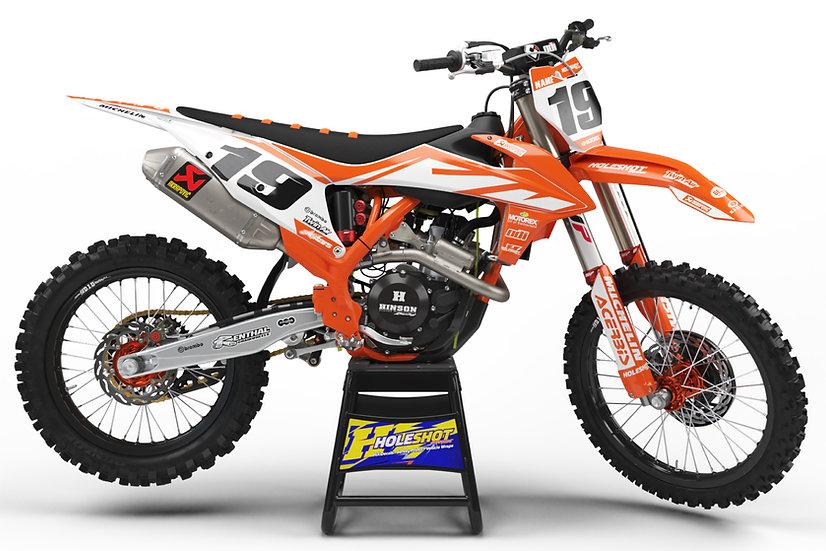 """KTM """"EFFEX ORANGE/WHITE"""" KIT: $179.95 - $279.95"""