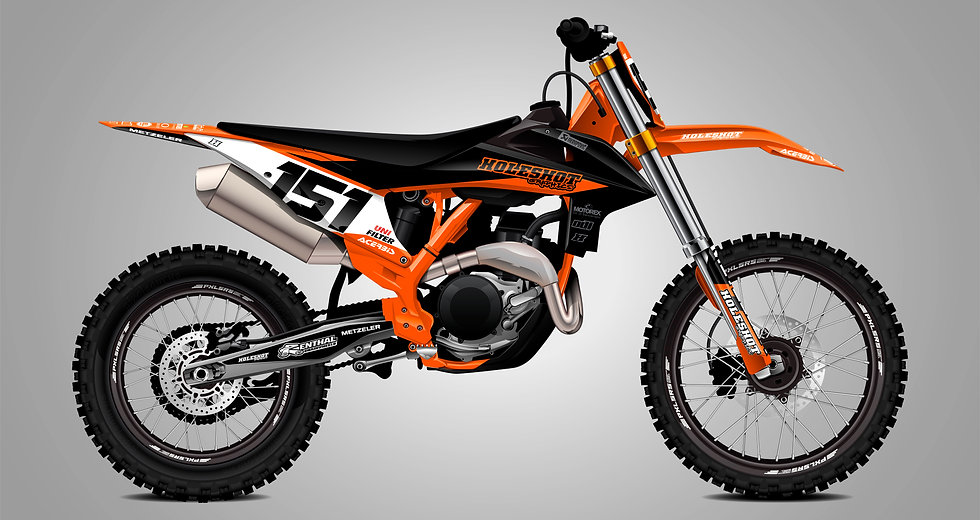 "KTM ""STOCK ORANGE/BLACK"" KIT"