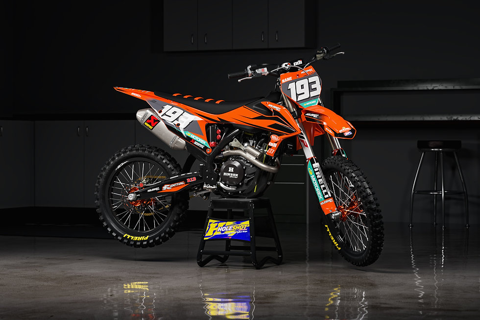 KTM Striker full graphics kit on KTM Model Bike