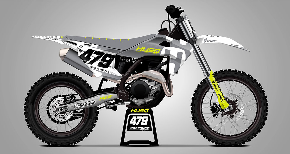 "HUSQVARNA ""REVERT"" GREY/YELLOW KIT: $179.95 - $279.95"