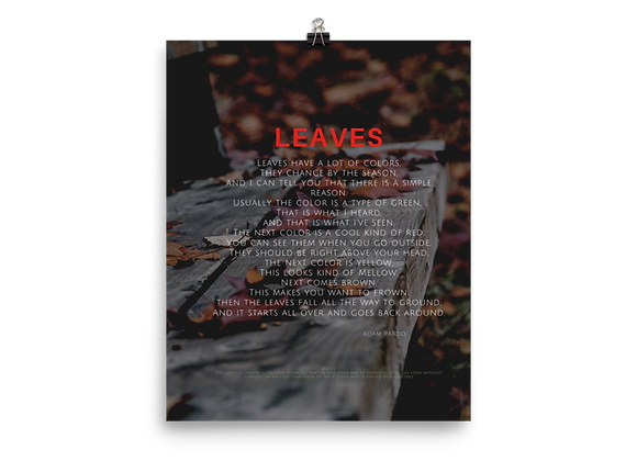 """Leaves"" Poster"