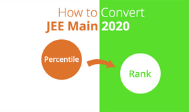 JEE Main 2020 Covert Percentile to Rank.