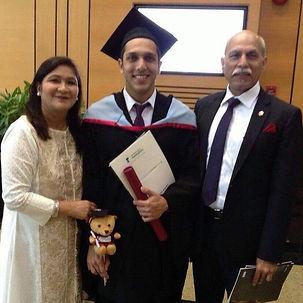 Jay Qureshi Graduation day at the university of Nottingham