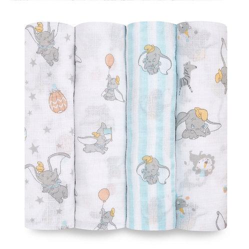 Муслиновые пеленки набор из 4-х шт Dumbo new heights Essentials Aden Anais