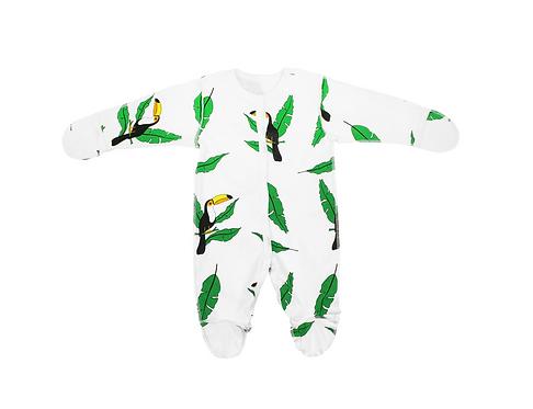 Детский комбинезон швы наружу туканы Toucan for Kids