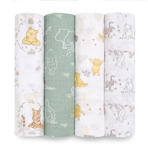 Муслиновые пеленки набор из 4-х шт Winnie+friends Essentials Aden Anais