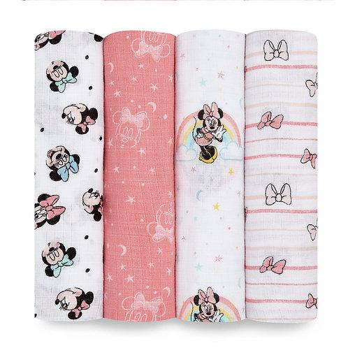 Муслиновые пеленки набор из 4-х шт Minnie rainbows Essentials Aden Anais