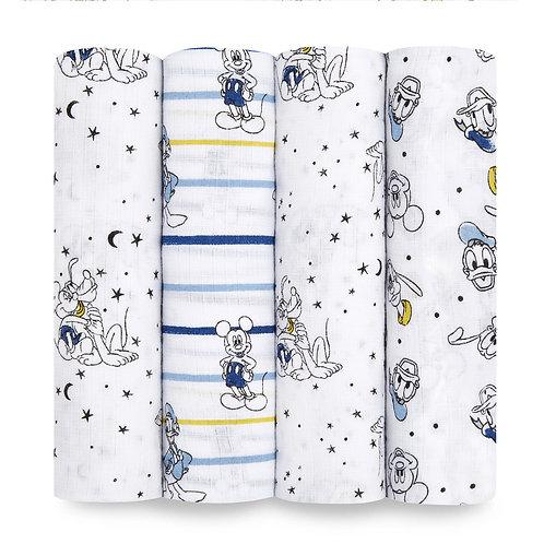 Муслиновые пеленки набор из 4-х шт Mickey stargazer Essentials Aden Anais