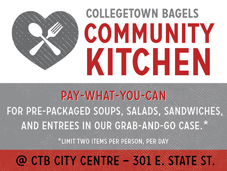 Collegetown Bagels Opens Community Kitchen