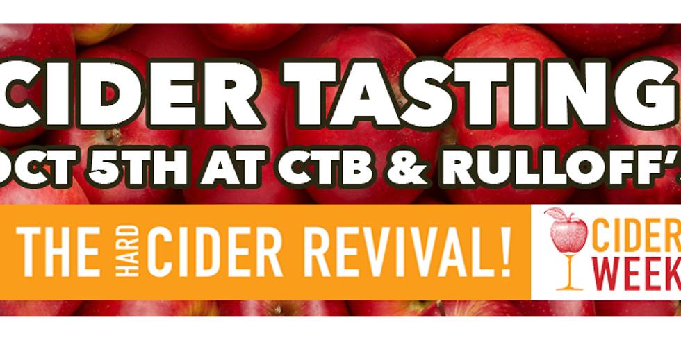 Cider Tasting at CTB!