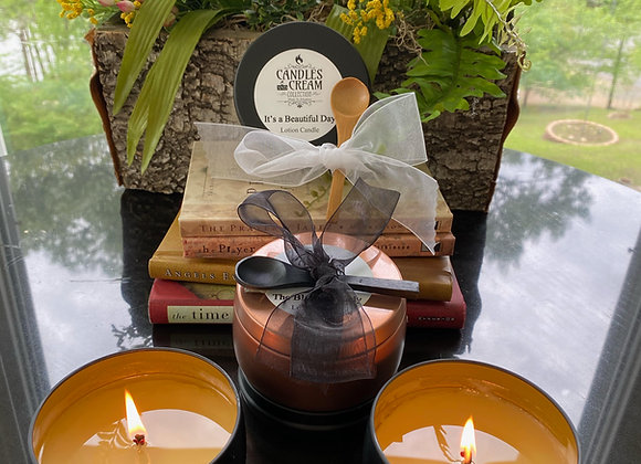 Wholesale Lotion Candle 8oz Black Tin